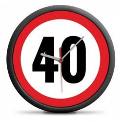 ZEGAR URODZINOWY 40 -...
